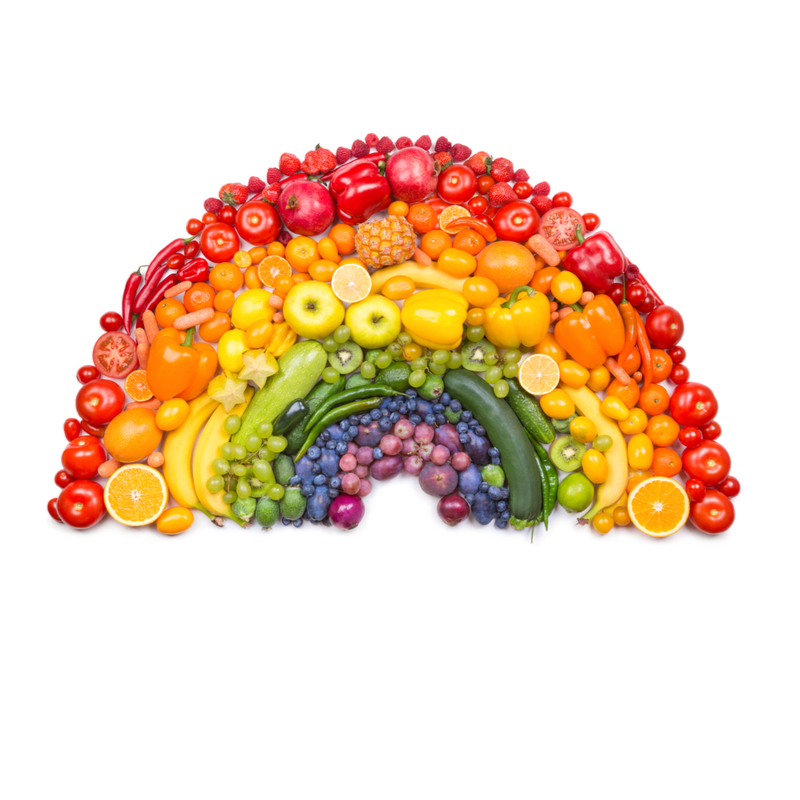 Rainbow for fruit and veg
