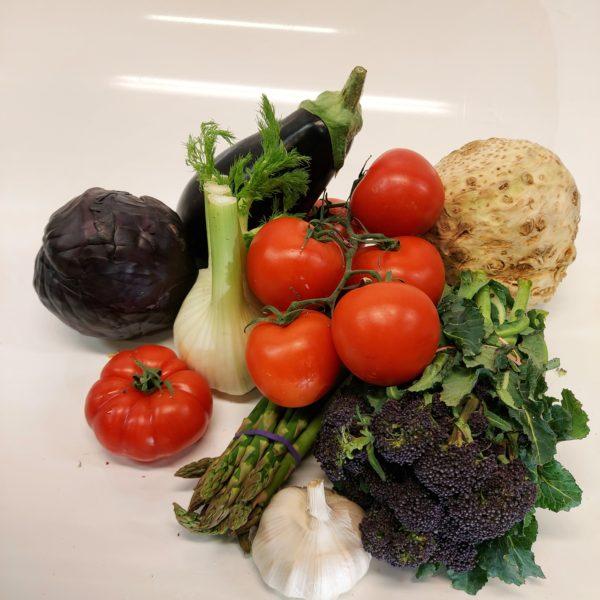 Exotic vegetable selection